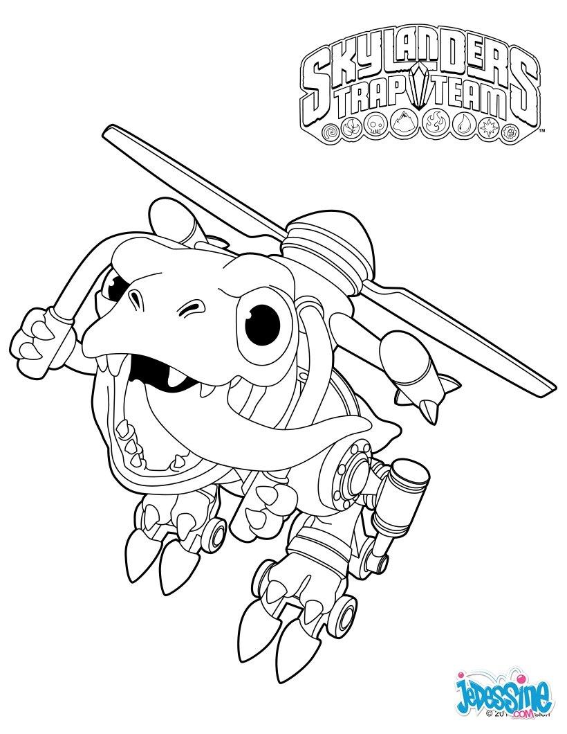 Coloriage skylanders chopper