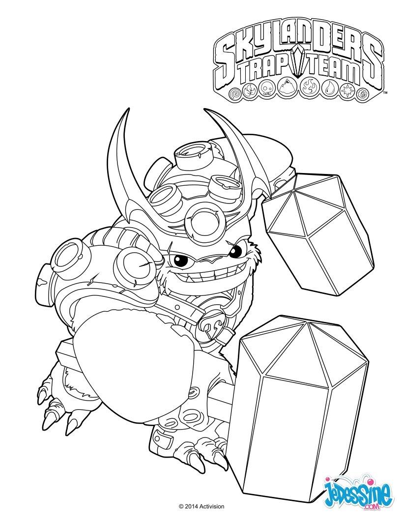 Coloriages wallop le trap master for Skylanders imaginators coloring pages