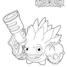 Coloriage Skylanders : Food Fight