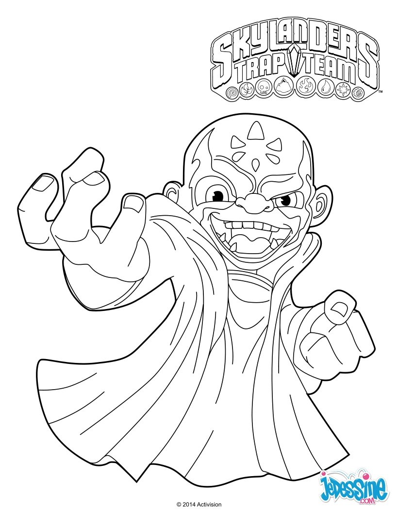 Coloriages kaos - Coloriages skylanders ...