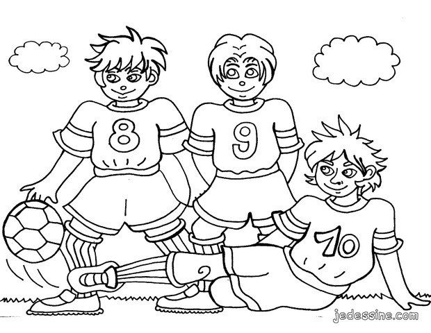 Coloriage Match De Football.Coloriage Football Coloriages Coloriage A Imprimer Gratuit Fr
