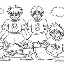 Coloriage de joueurs de football