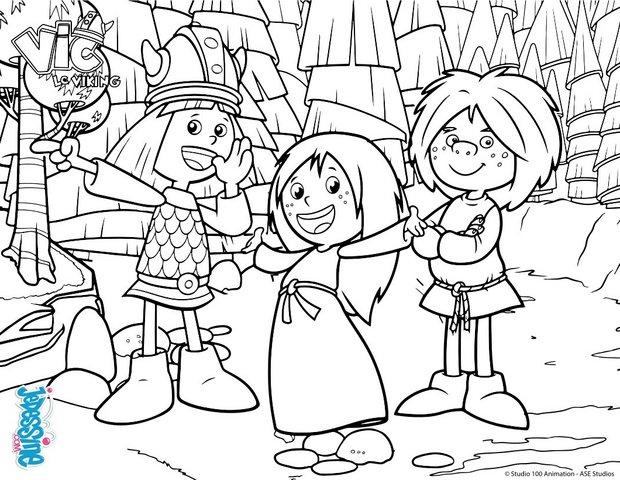 Coloriages coloriage vic le viking - Dessin de viking ...
