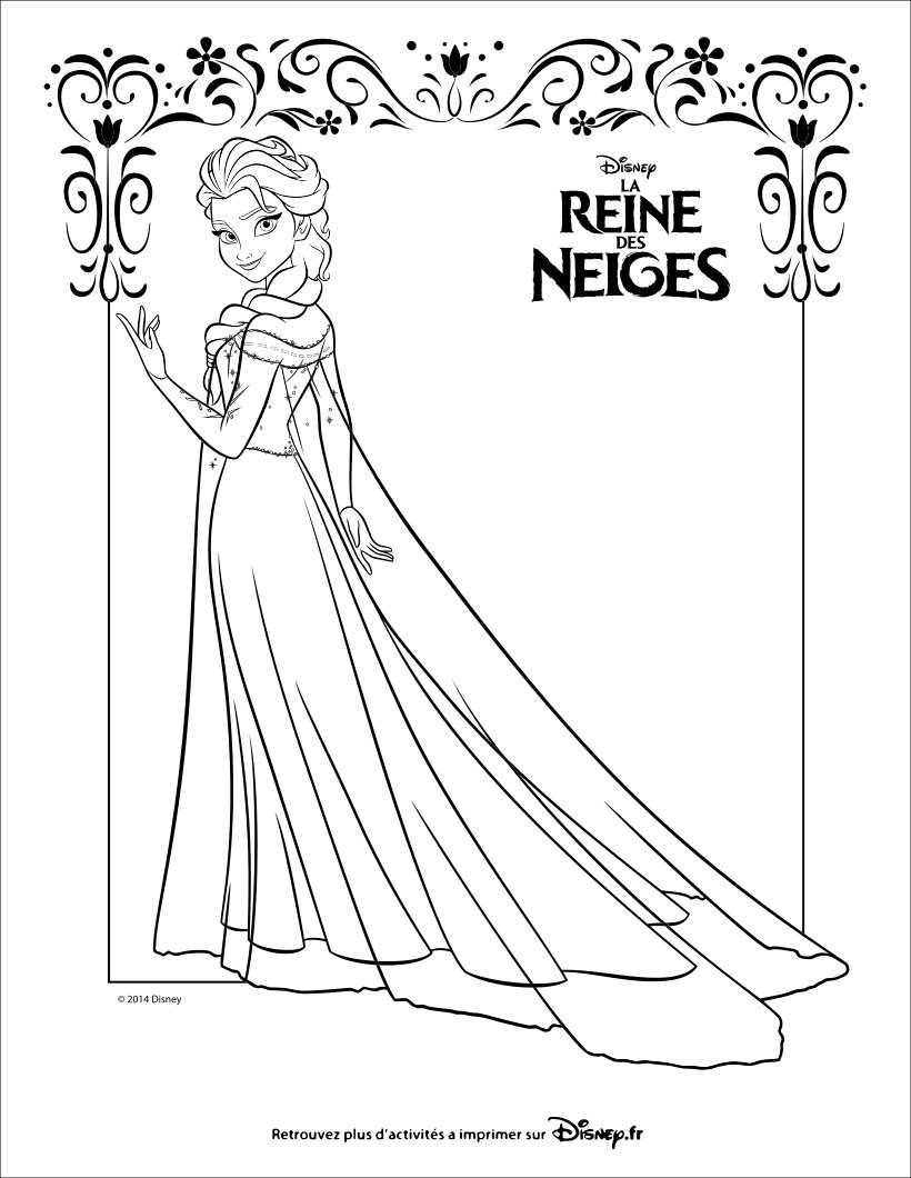 coloriages la reine des neiges elsa. Black Bedroom Furniture Sets. Home Design Ideas