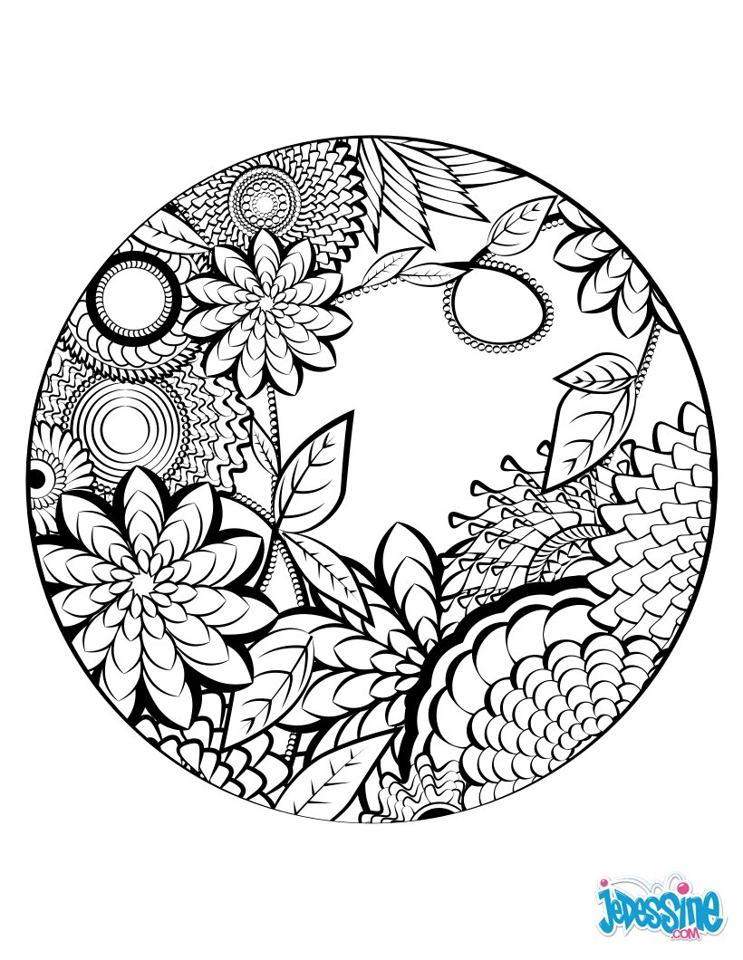 coloriage pour adulte mandala colorier