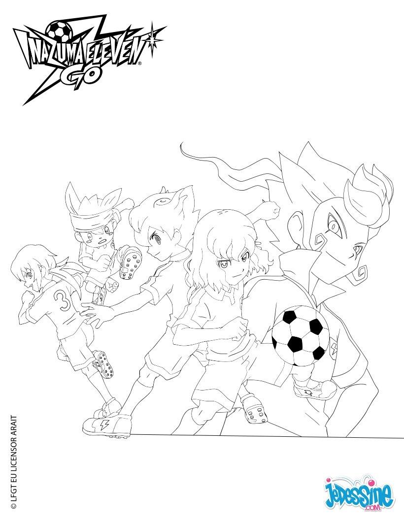 Coloriages personnages inazuma eleven go - Dessin anime de inazuma eleven ...