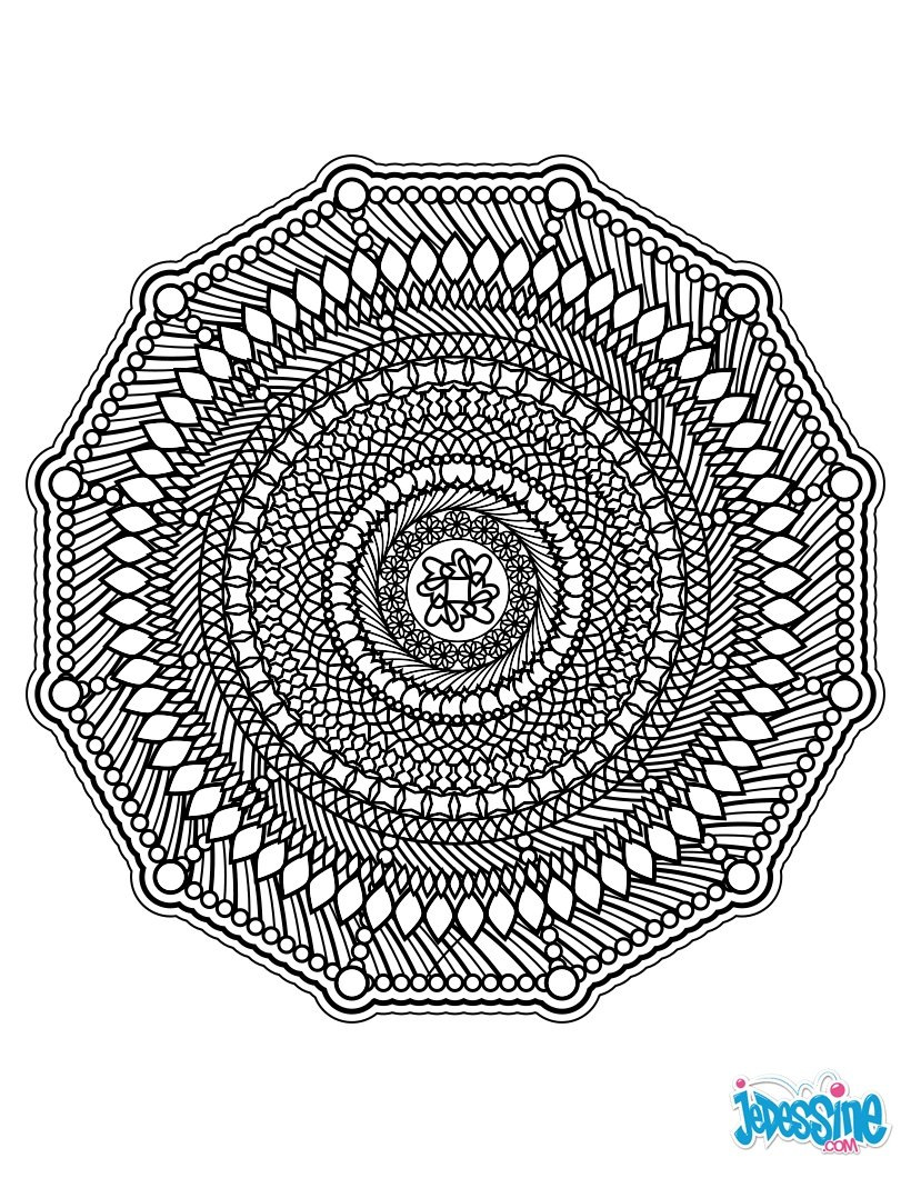 Coloriages mandala anti stress - Dessin a colorier pour adulte ...