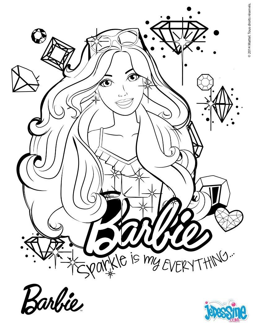 Coloriage Barbie : Portrait de Barbie