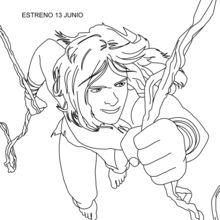 Coloriage : Tarzan de liane en liane