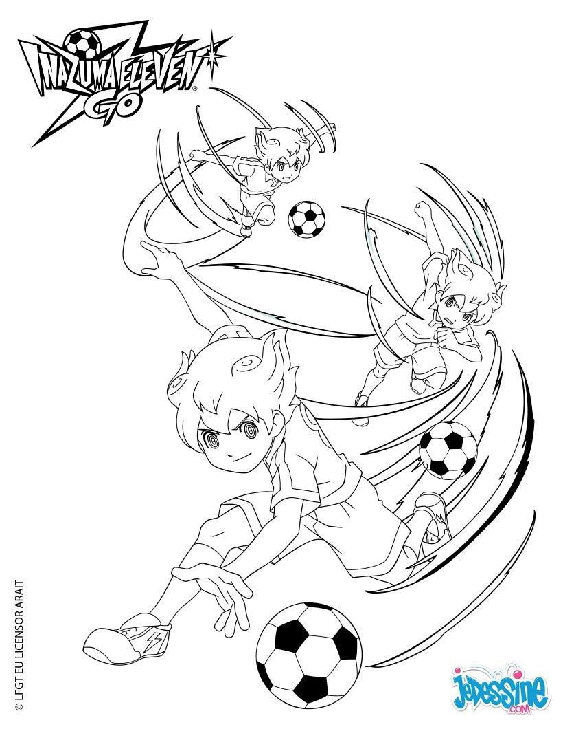 Coloriage Inazuma Eleven Arion avec le ballon