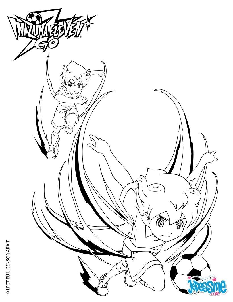 Coloriages arion dribble z phir - Dessin anime de inazuma eleven ...