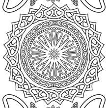 Mandala : Coloriage pour adulte