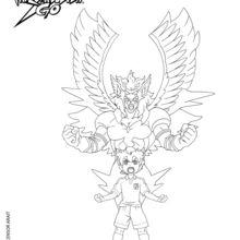 Coloriage Inazuma Eleven : Pégase le Cheval des Dieux