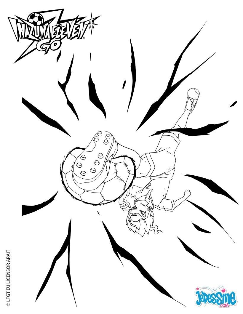 Coloriages victor effectuant l 39 envol des t n bres - Dessin anime de inazuma eleven ...