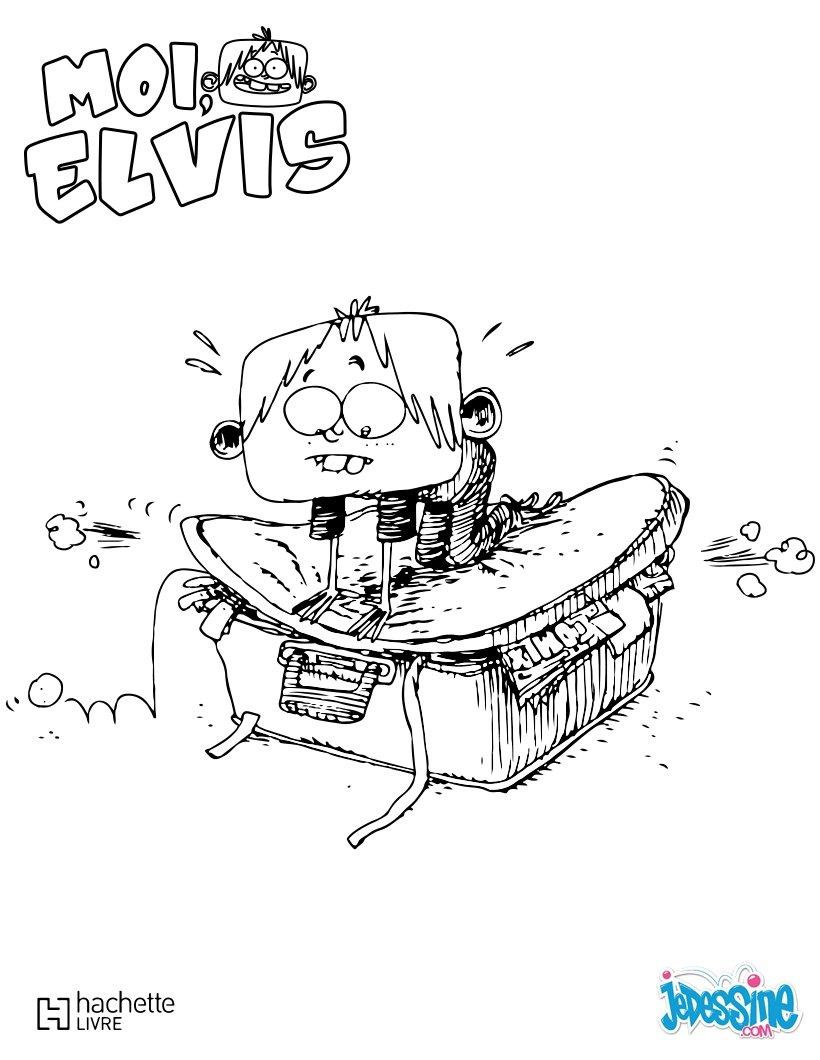 Coloriages elvis fait sa valise - Dessin de valise ...