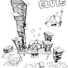 Elvis fait ses devoirs