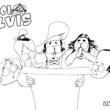 Coloriage : Moi, Elvis