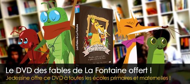 DVD fables de la fontaine offert aux écoles