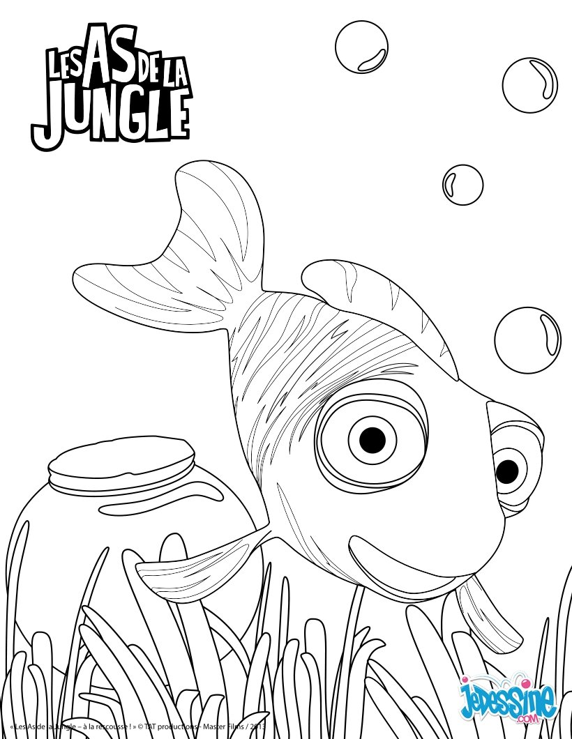 Coloriages junior - Dessin de jungle ...