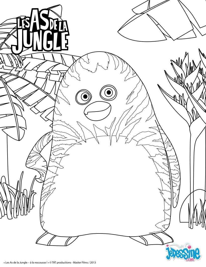 Préférence Coloriage as De La Jungle Facile PE71