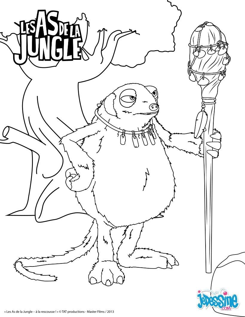 Coloriages mama dongo - Coloriage as de la jungle ...