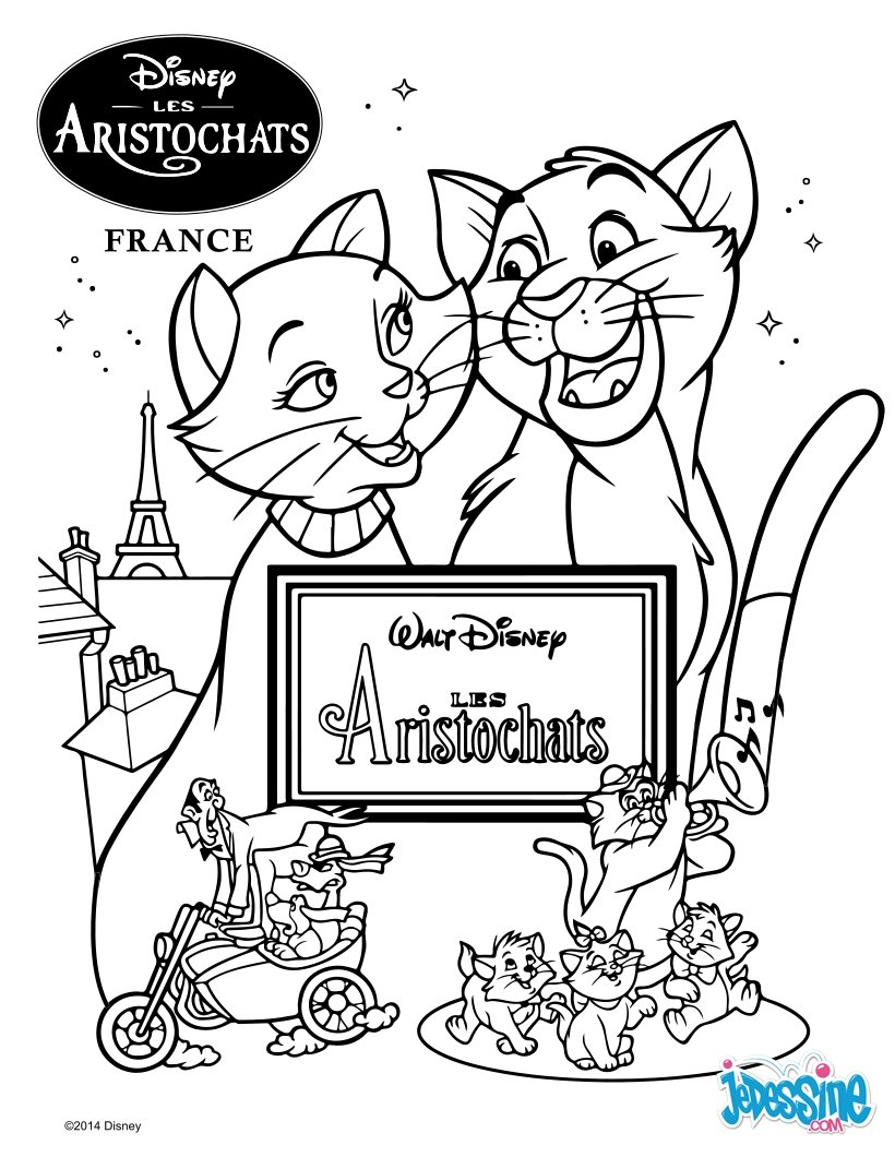 Coloriages les aristochats - Coloriage aristochat ...