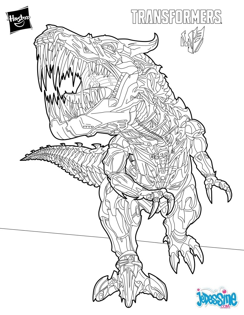 Coloriages grimlock le chef des dinobots - Coloriage transformers ...