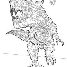 Coloriage : Grimlock, le chef des Dinobots