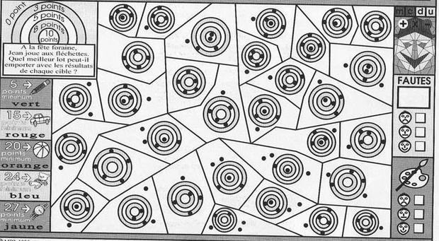 Coloriage magique : Analyser un schéma