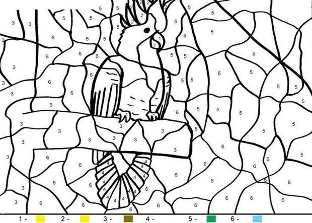 Coloriages coloriage magique en ligne - Coloriages en lignes ...