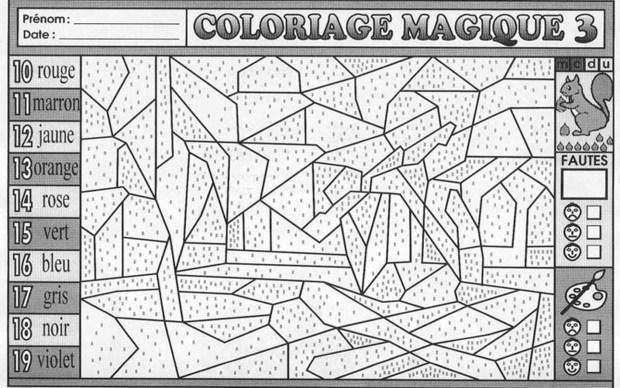 Coloriages Compter