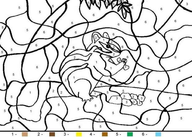 Coloriages pour les petits - Coloriage petit ecureuil ...