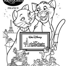 Coloriage Disney : Les Aristochats