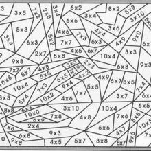 Coloriages multiplication et plage de r sultat fr - Coloriage magique division cm1 ...