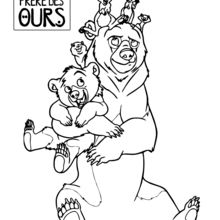 Coloriage Disney : Les animaux de Frère des Ours