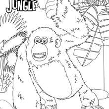 Coloriage : Miguel le gorille