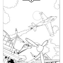 Coloriage : Planes - Dusty le Héros