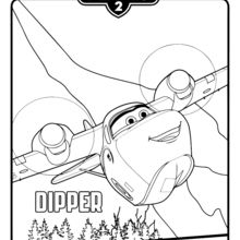 Coloriage : Planes 2 - Dipper