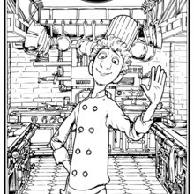 Coloriage Disney : Ratatouille - Linguini