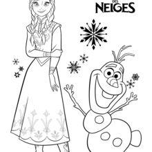 Anna et Olaf - La reine des neiges