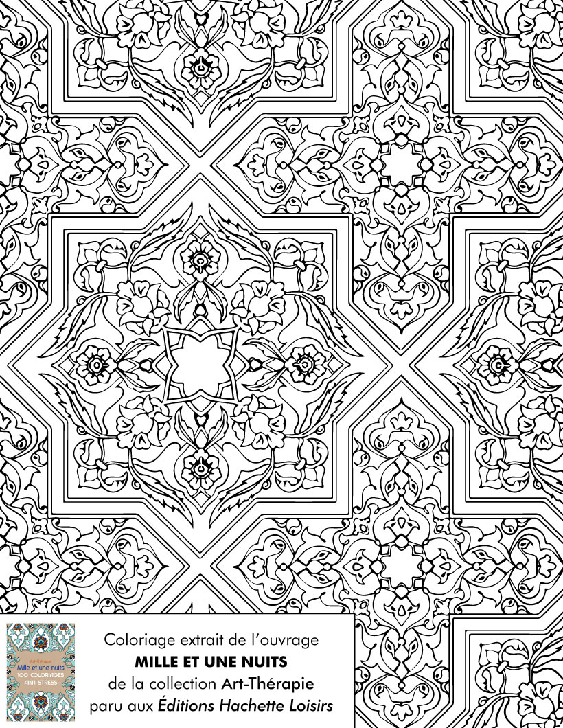 Coloriages coloriage pour d stresser - Dessin a colorier adulte ...