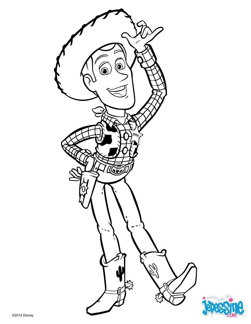 Coloriages toy story woody le cowboy - Dessin de cowboy ...