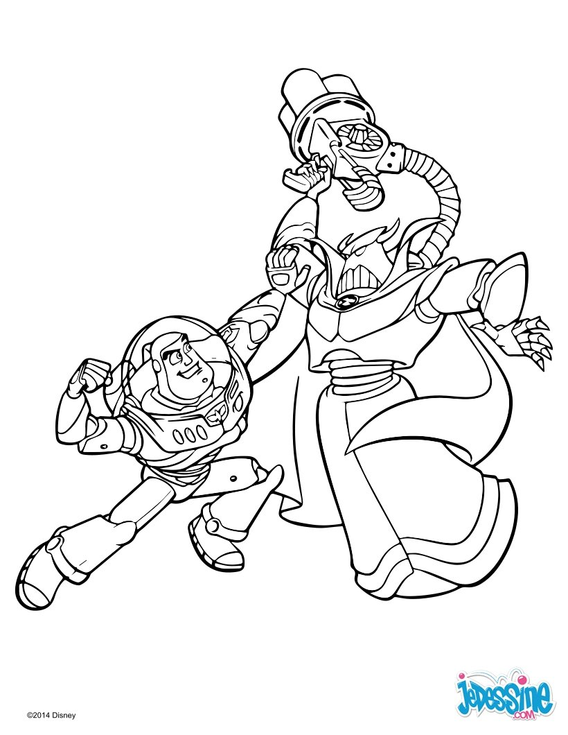 Coloriages toy story 2 buzz et zorg - Coloriage toy story 3 ...
