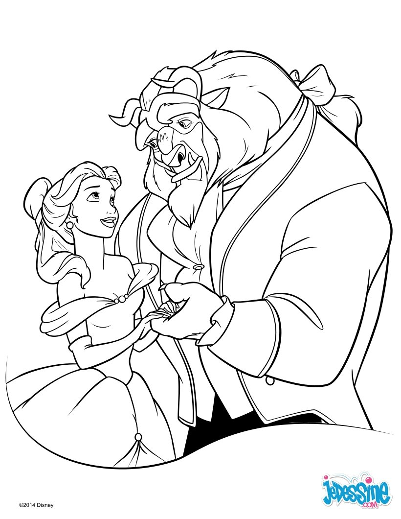 Coloriages la belle et la b te - Coloriage disney ...