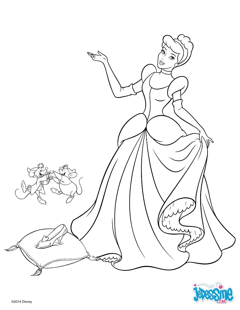 Coloriages cendrillon - Coloriage en ligne princesse ...