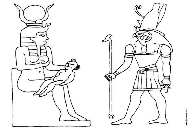 coloriages coloriage de dieux egyptiens