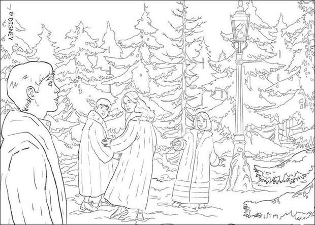 Coloriages la for t de narnia - Dessin de foret ...