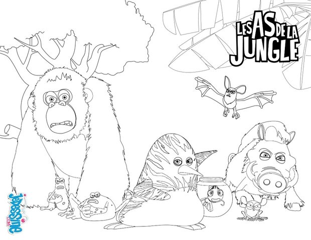 Favori Coloriages les as de la jungle - fr.hellokids.com UN01