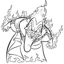 Coloriage Disney : Hadès, l'ennemi d'Hercule