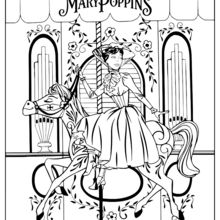 Coloriage : Mary Poppins